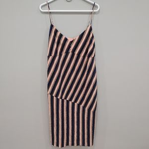 Topshop striped accordion dress size 14